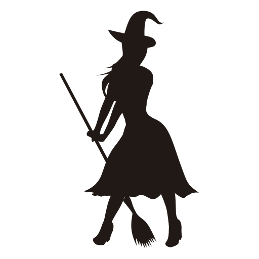 Young lady witch silhouette
