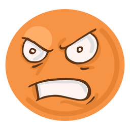Angry rage face emoji