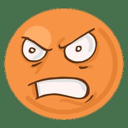 Emoji de raiva cara de raiva