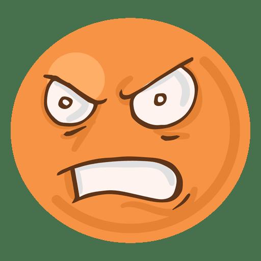 Angry rage face emoji