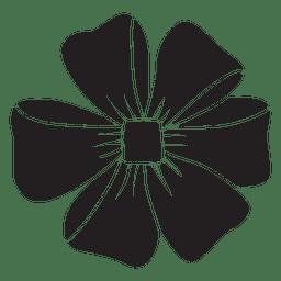 Flor de arco preto