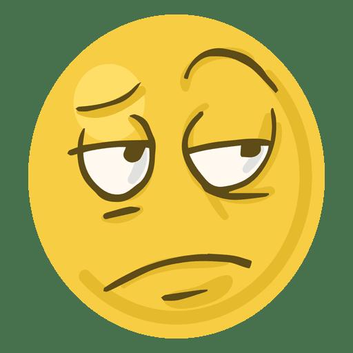 Bored face emoji