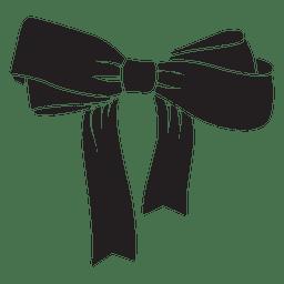 Bow tie black silhouette