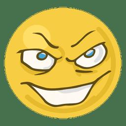 Evil face emoji