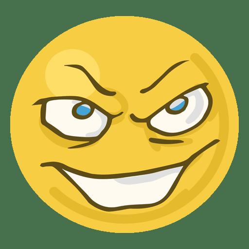 Evil face emoji Transparent PNG