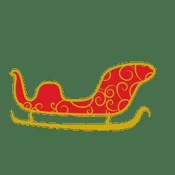 Golden sleigh sliding