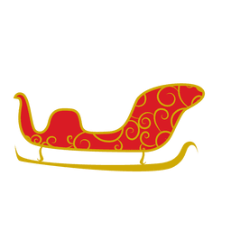 Trilho de trenó dourado
