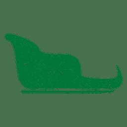 Green sleigh sliding