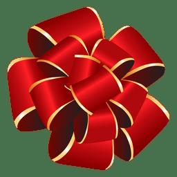Regalo rojo del arco del pom pom