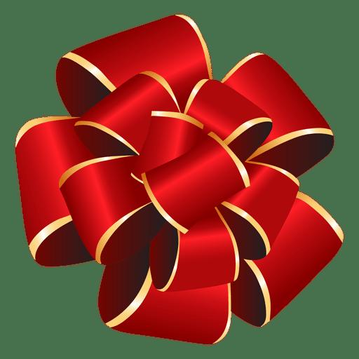 Pom pom red bow gift - Transparent PNG & SVG vector file