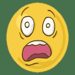 Shock face emoji