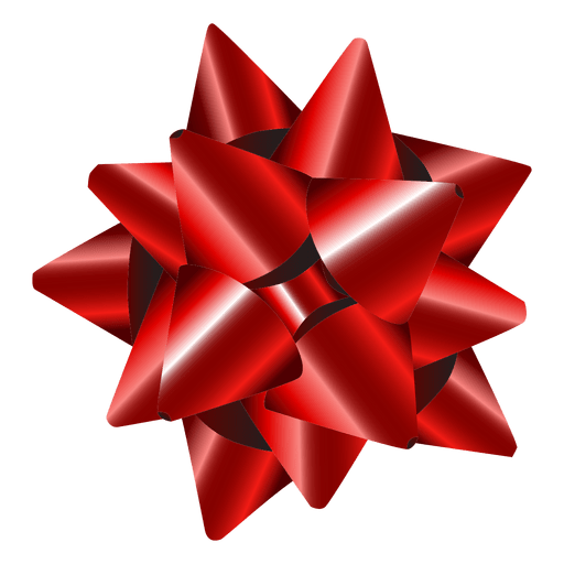 Star bow red - Transparent PNG & SVG vector file