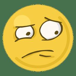 Worried face emoji