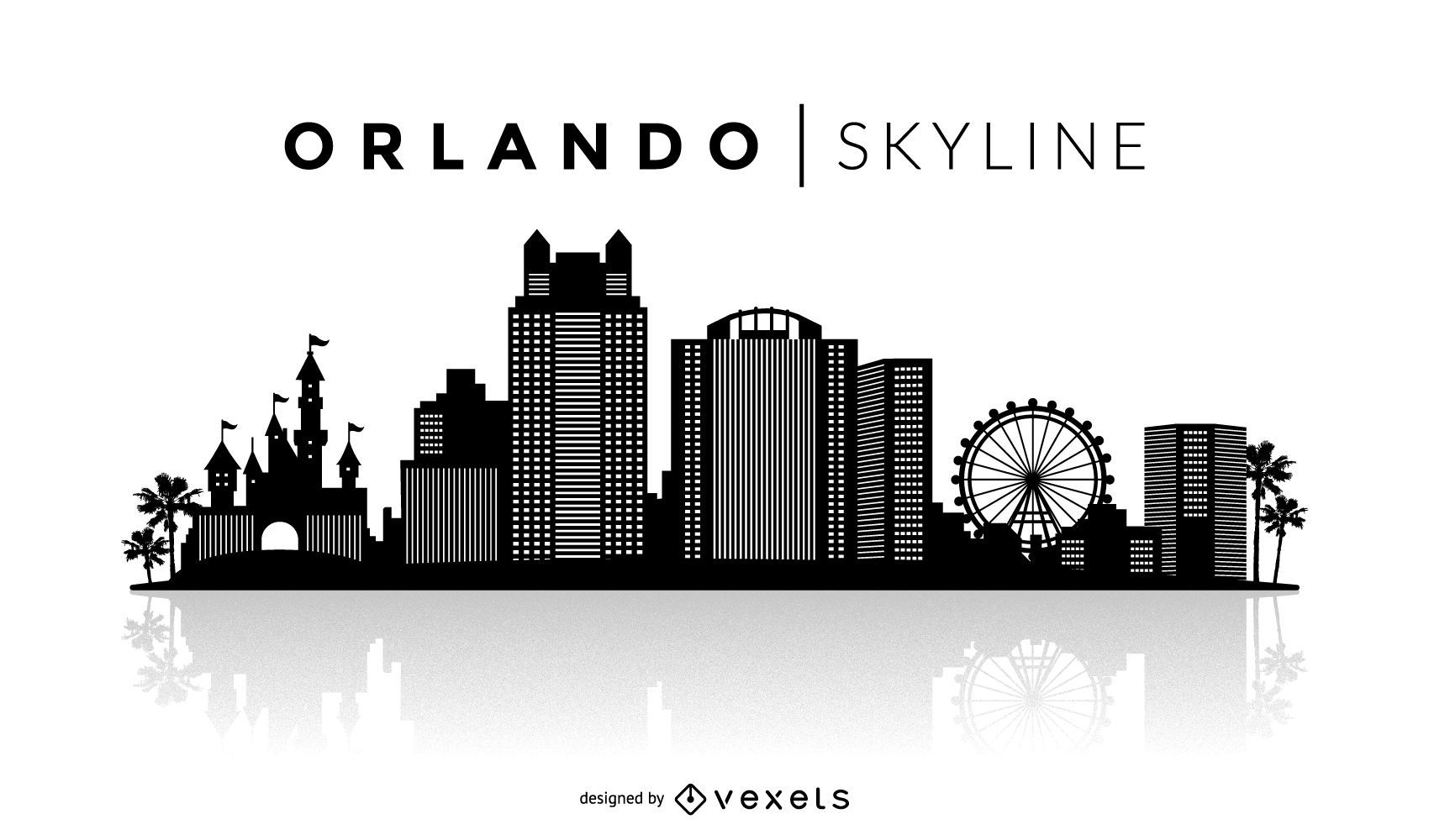 Horizonte de silueta de Orlando