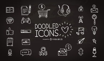 Hand drawn icon collection