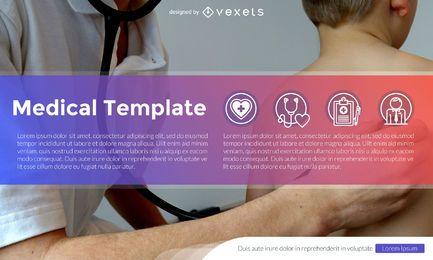 Salud y medicina diseño de la plantilla con iconos