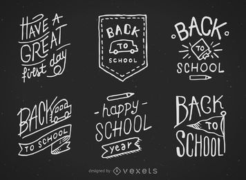 Back to school hand drawn chalkboard designs