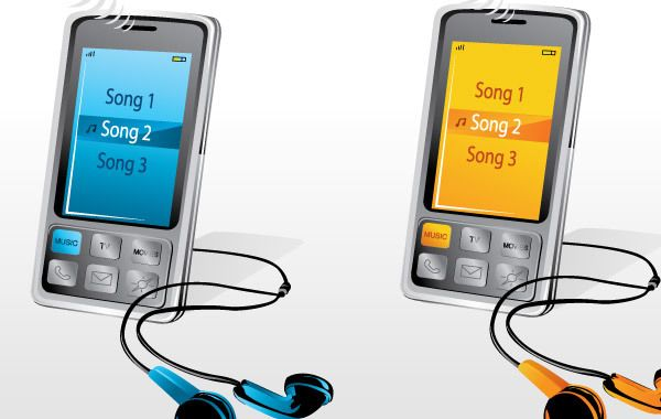 Colored Music Players