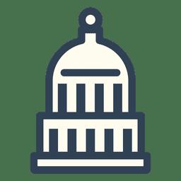 Ícone de curso Capitol dos EUA