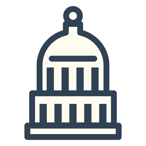 Usa capitol stroke icon Transparent PNG