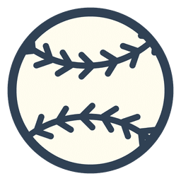 Baseball ball stroke icon