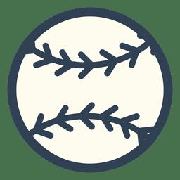 Ícone de traçado de bola de beisebol