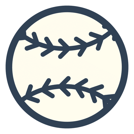Baseball ball stroke icon Transparent PNG