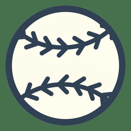 Baseball ball stroke icon