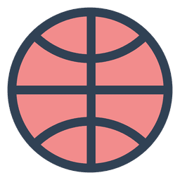 Basketball ball stroke icon