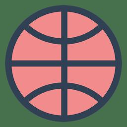 Ícone de traçado de bola de basquete