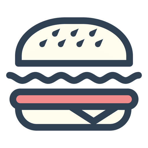 Burger fast food stroke icon Transparent PNG