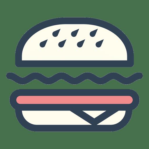 Icono de trazo de comida rápida de hamburguesa Transparent PNG