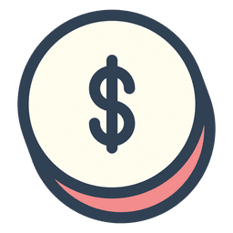 Dollar money stroke icon