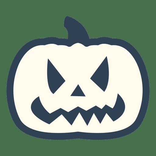 Spooky pumpkin stroke icon