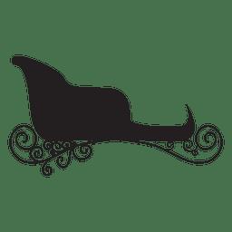 Sliding sleigh silhouette