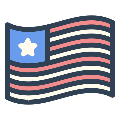 United states flag stroke icon Transparent PNG