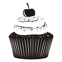 cupcake illustration cherry