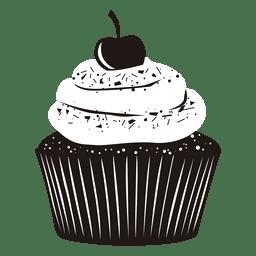 Ilustração cupcake cereja