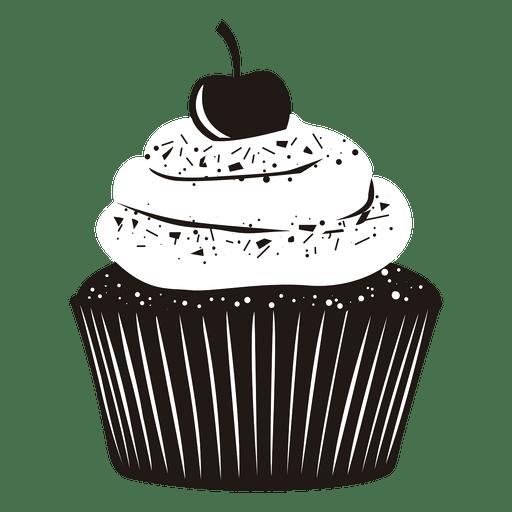 cupcake illustration cherry Transparent PNG