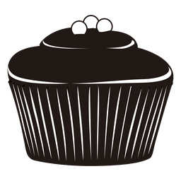 cupcake illustration silhouette