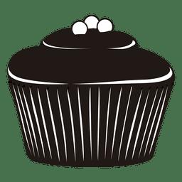 Silhueta da ilustração do cupcake