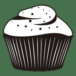 Ilustração de cupcake com geada