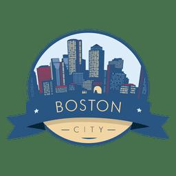 Boston City Skyline-Abzeichen