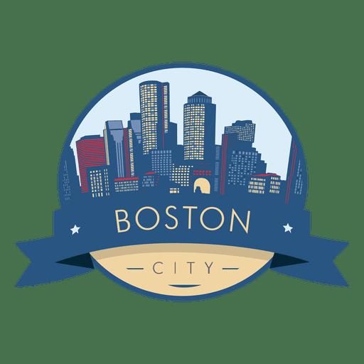 Boston City skyline badge Transparent PNG