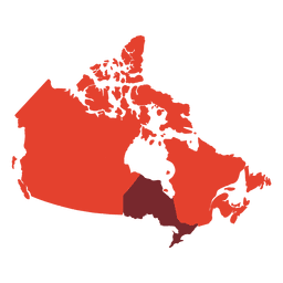 Canadá mapa de la silueta