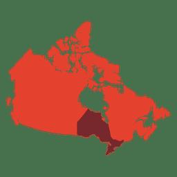 Silueta de mapa de canadá