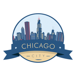 Chicago skyline badge