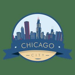 Insignia del horizonte de Chicago
