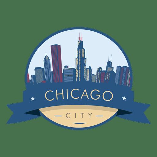 Chicago skyline badge Transparent PNG