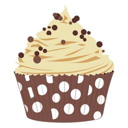 Chocolate chip cupcake illustration